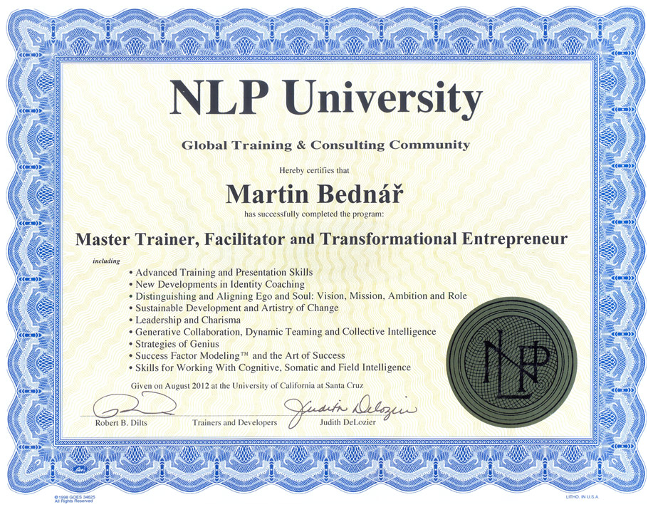 Diplom Master Trainer NLP