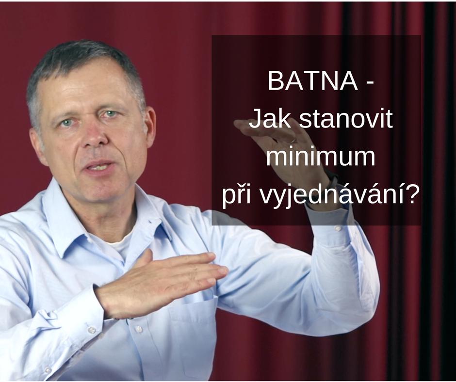 Foto BATNA - Jak stanovit minimum při vyjednávání?