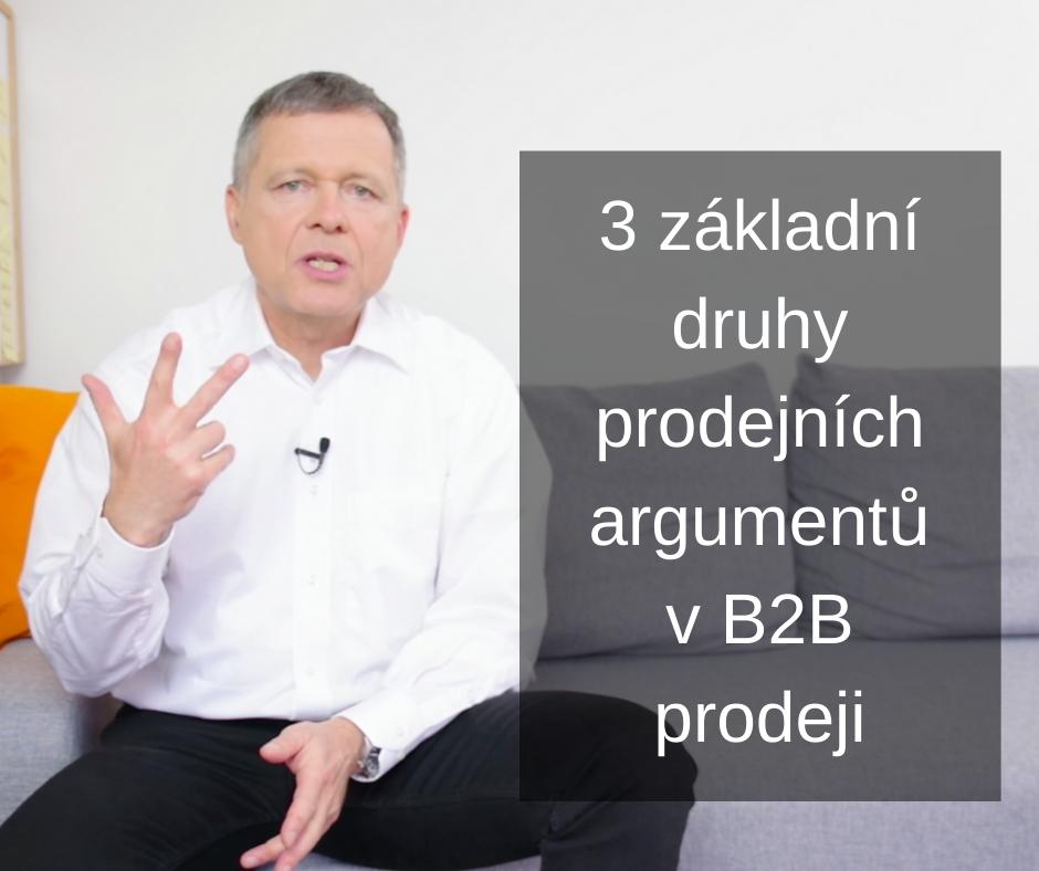 3 základní druhy prodejních argumentů FCB