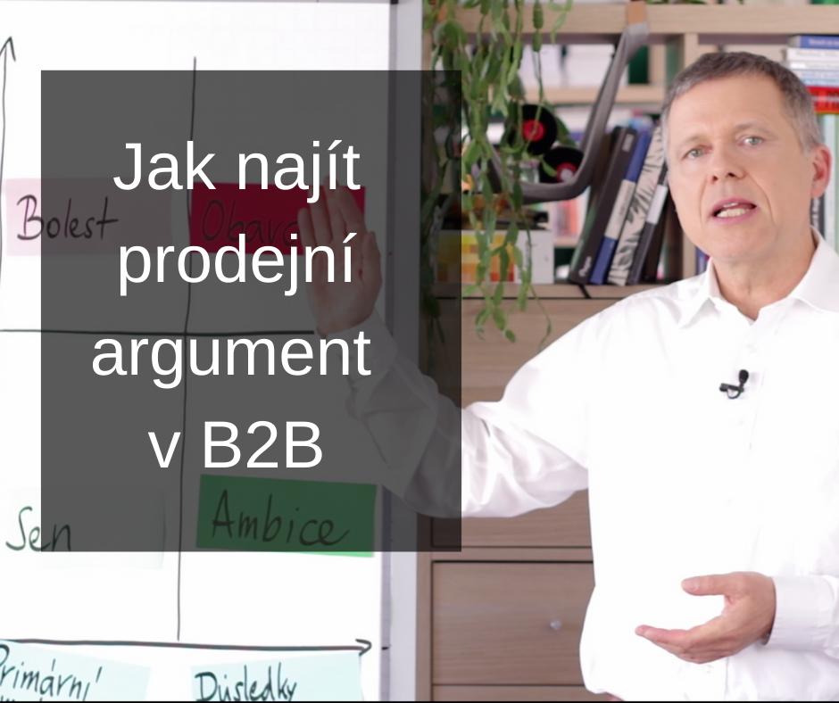 Jak najít prodejní argument v B2B