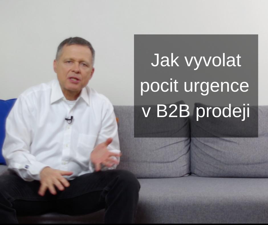 15 Jak vyvolat pocit urgence v B2B prodeji