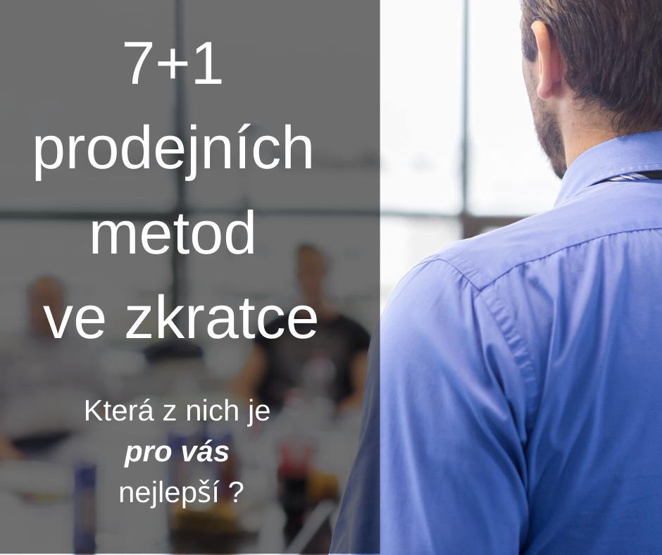 7+1 prodejních metod ve zkratce FCB