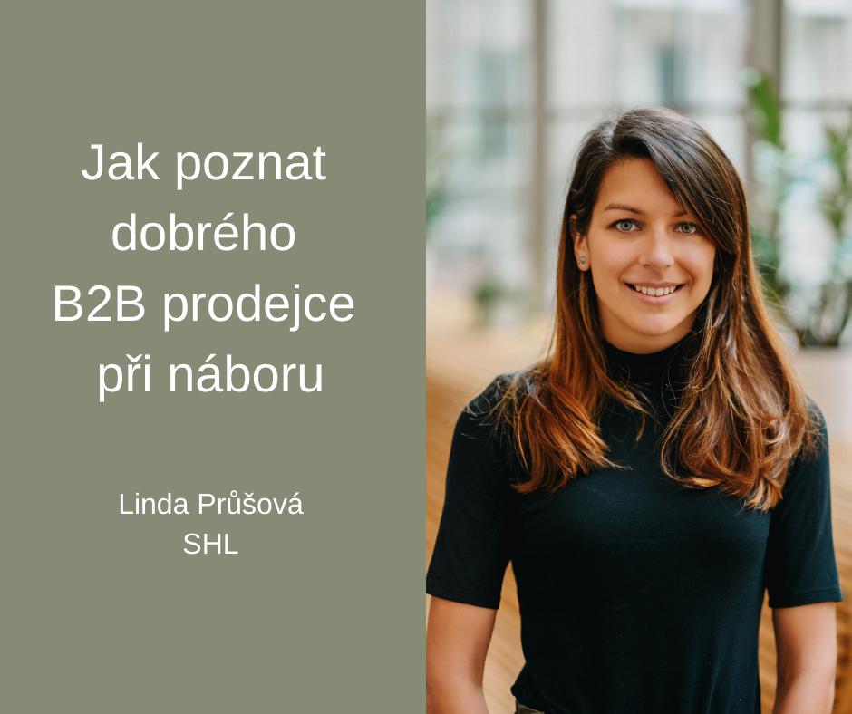 Linda Průšová Nábor B2B prodejců FCB